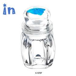 Medio de almacenamiento de acrílico con tapa hermética Jar Anillo de sellado de silicona