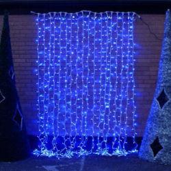 Индикатор высокого качества Рождество шторки для наружного освещения с заменяемыми строки с сертификат CE