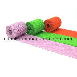 Nastro della tela da imballaggio della iuta di tintura del colore personalizzato