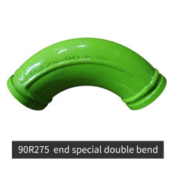 """Dn5 """"具体的なポンプトラックの90r275及び端の特別な二重くねりの肘"""