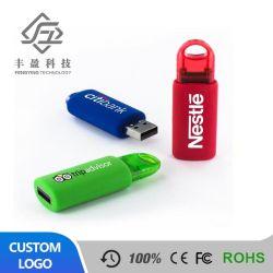 Le ressort en plastique ABS coulissante push-pull disque U Don les créations personnalisées Coverless stick USB en plastique de gros de Shell
