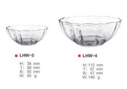 Placa de vidro elegante Copo de vidro de saladas e personalizados de prato de frutas