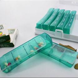 La conception de la personnalité hebdomadaire pilule en plastique transparent 4 fois par jour de l'organiseur