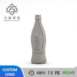 La promoción de la botella personalizada Cola forma una unidad flash USB disco de memoria