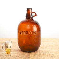 1 galón Growler de vidrio Botella de Cerveza con Tapa de aluminio