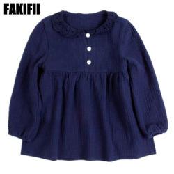 Die Winter-/Herbst-Fabrik-Großverkauf-Kinder, die Kind kleiden, kleidet weiche Baumwollspitze-Hemd-Mädchen-Form-Bluse