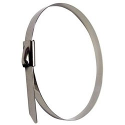 Cable de metal de acero inoxidable Zip Sujetar las correas de escape