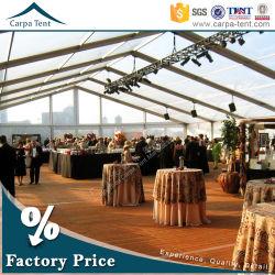 500 ou 1000 personnes idéal Outdoor grand chapiteau couverts de tissu transparente en PVC transparent tente pour tous les événements et des occasions