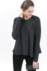 51%Mer. Stutzen-Pullover Mischder frauen der Wolle-22%Yak 22%Polyamide 5%Elastan runder mit völlig Form-rückseitigem Reißverschluss
