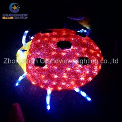 Im FreienZoo Animals 3D Insect Beetle Illage LED Christmas Lights Glass Christmas Ornament
