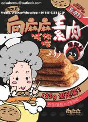 Le snack-végétarien alimentaire approuvé halal de la viande séchée Tofu saveur du canard noir