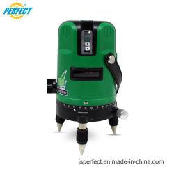 Nuevo nivel láser rotativo de nivelación automática de 5 líneas de color verde