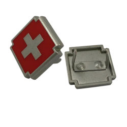 Красного Креста Дизайн пользовательских металлическую пластину с логотипом для сумки