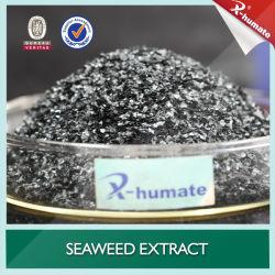 Extracto de Algas Marinas X-Humate fertilizante orgánico soluble en agua con el polvo negro/hojuelas