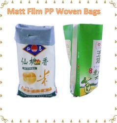 De matte Geweven Film pp doet Matte Film Met een laag bedekte Zakken Polyproplylene in zakken