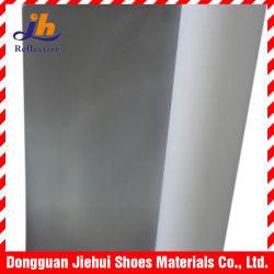 PVC reflectante de plata de 0,8 mm para los zapatos y bolsos de cuero