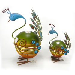 庭の装飾のための庭の金属の彫刻の孔雀の装飾