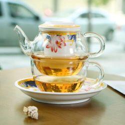 Chávena de chá de vidro feitas à mão Definir Dom chaleira de vidro