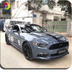 Tsautop 1,52*18m de vinil de cristal de Alta Qualidade Folha de veículo automóvel Cinzento Escuro Adesivos Auto