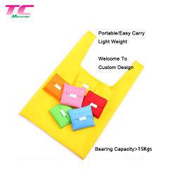 precio de fábrica de poliéster plegable Tote Bags Factory, plegable reutilizable promoción impresos personalizados bolsas de compras al por mayor