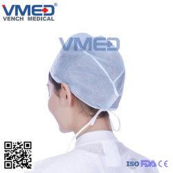 Médecin chirurgical non tissés jetables chapeau avec attache facile
