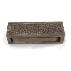 Venda por grosso de madeira em bambu natural Embarcações artesanais incenso titular do cartão inserido na caixa do queimador de incenso de madeira