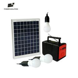 20W Accueil Solaire système exécutait le ventilateur & TV & éclairage 3 chambres et 2 ports USB de charge de téléphone mobile et radio FM et lecteur MP3