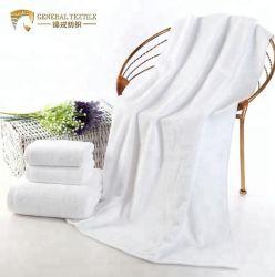 Venda por grosso toalhas 100% algodão White Hotel Casa de Banho Toalha de banho (JRAC058)