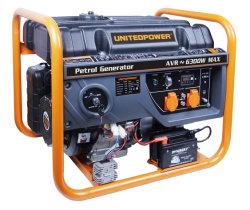 A nova 7000watts rodas & Air-Cooled puxador de emergência em casa pequena potência Gás Portable gerador a gasolina