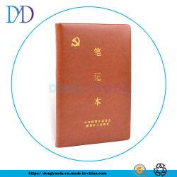 Het winkelen het Elastische Notitieboekje of de Agenda van de Dekking van het Leer Zachte met het Embleem van de Douane