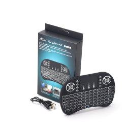 2019 Nouveau Hot 2.4G I8+ Mini clavier sans fil de la tablette tactile rétroéclairé de souris clavier de jeu pour ordinateur portable Tablet PC HTPC Teclado
