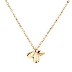 Nuovo collana del pendente del fiore del gelsomino placcata dei monili 18K delle donne dell'argento sterlina di arrivo 925 oro