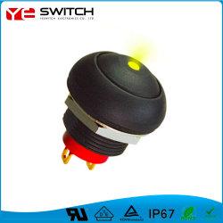 Drukknopschakelaar van het elektronische resetcontact met LED-lampje