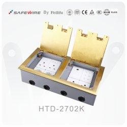 IEC60884 стандартной крышкой на выходе из латуни этаже розетки/электрический разъем .