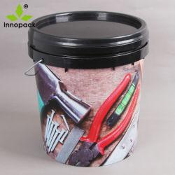 Limpar 18L baldes plásticos para pintura, balde de PP para alimentos