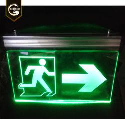 Nachladbarer Laterne-Ausgang der Notleuchte-Lampen-LED zeigen helles Zeichen an