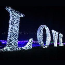 2.5M Tall Outdoor partie Motif décoratif Feux d'amour d'éclairage LED
