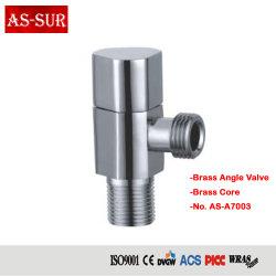ANSI/DIN mejor fabricante de venta de Grifo de latón cromado válvula angular7003