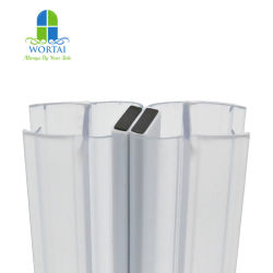 샤워실 고무 밀봉 스트립 방수 자석 투명 자석을 벗겨줍니다 유리 도어용 플라스틱 스트립