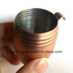 Metallcup-Edelstahl-Schuss-Glas der Verkupferung-50ml mit Haken