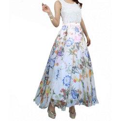 Senhora Chiffon de praia no Verão muito elegante saia Floral de impressão
