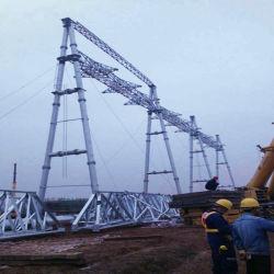 El ángulo y el tubo de hierro DE ACERO Estructura de la subestación para la transmisión de energía eléctrica