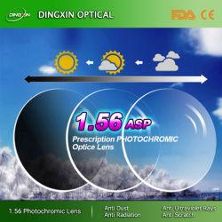 По окончании на заводе 1,56 Photogray Hmc единой концепции оптический объектив