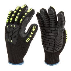 Het schuimrubber bedekte Anti-Vibration Schokbestendige Mechanische Handschoenen van het Werk van de Veiligheid TPR met een laag