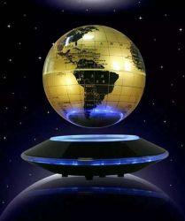 """Магнитные Maglev Levitation Levitron вращение с плавающей запятой 6"""" земной шар в Gold-Yellow и серебристый цвет"""