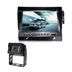 Ecran LCD TFT 9 pouces numérique voiture Vue arrière du moniteur à écran couleur avec 4 caméras de recul pour les Bus, les camions