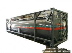 40FT ISO контейнеров для соляной кислоты раствор гипохлорита натрия PE вкладышем бака используется для содержат список совместимого оборудования (макс. 35%) , Naoh (50%) , Naclo (15%) , H2SO4). Hf, H2O2