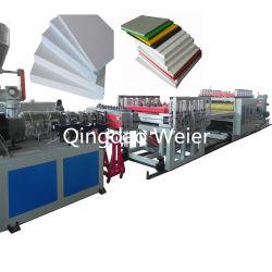 Linea di produzione del modello della costruzione della macchina WPC della scheda della gomma piuma della crosta del PVC