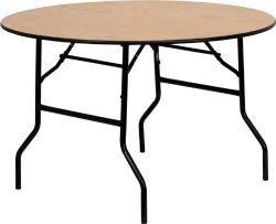 4FT 5FT 6FTの合板の木製の結婚式のイベントの円形の折りたたみ式テーブル