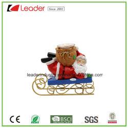 Décoration de Noël Santa Figurine Polyresin Bougeoir pour décoration maison